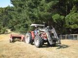 Baling the hay at Stokesay Mohair Farm